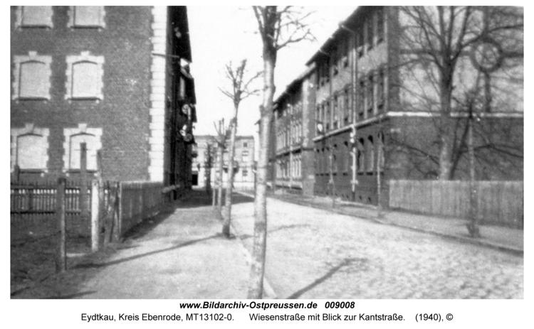 Eydtkau, Wiesenstraße mit Blick zur Kantstraße