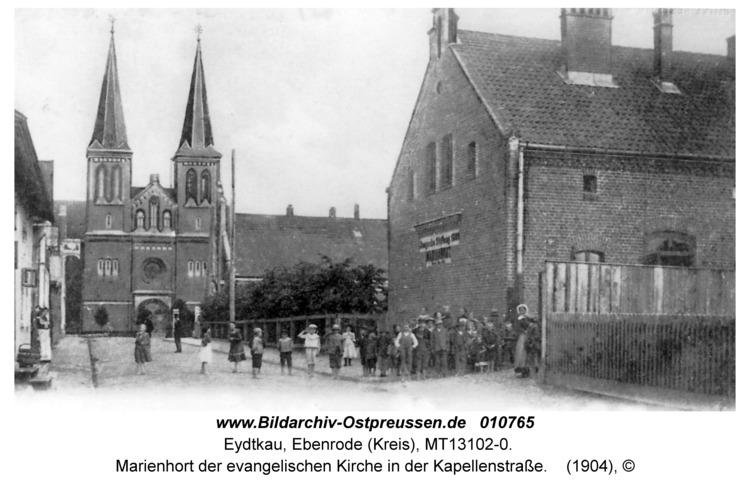 Eydtkau, Marienhort der evangelischen Kirche in der Kapellenstraße