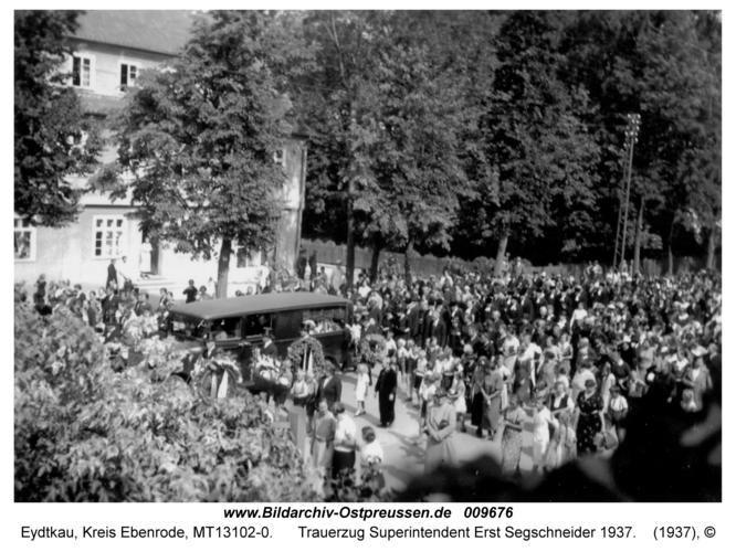 Eydtkau, Trauerzug Superintendent Erst Segschneider 1937
