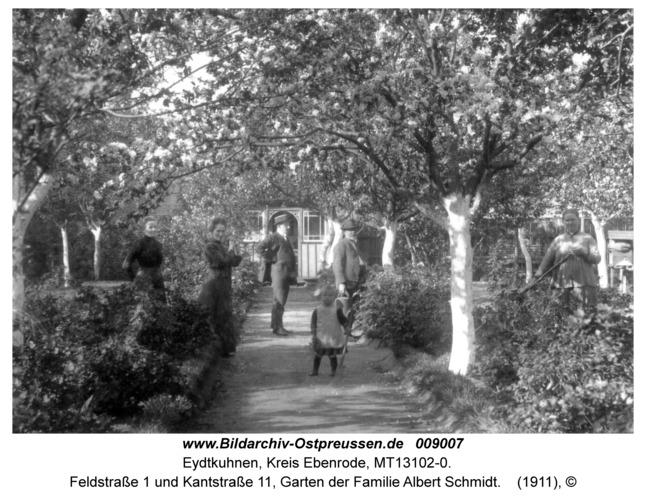 Eydtkau, Feldstraße 1 und Kantstraße 11, Garten der Familie Albert Schmidt