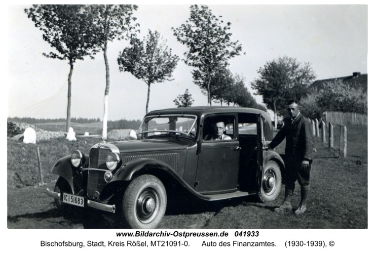 Bischofsburg, Auto des Finanzamtes