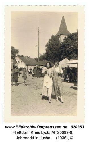 Fließdorf, Jahrmarkt in Jucha
