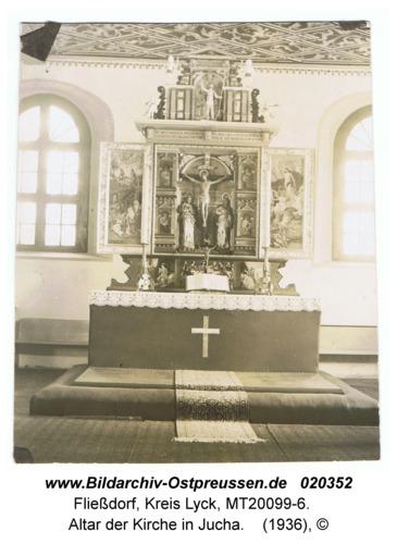 Fließdorf, Altar der Kirche in Jucha