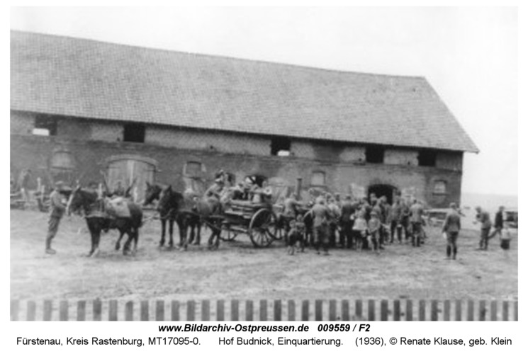 Fürstenau, Hof Budnick, Einquartierung