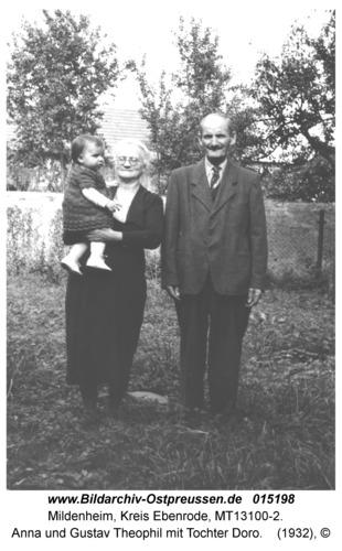 Mildenheim, Anna und Gustav Theophil mit Tochter Doro