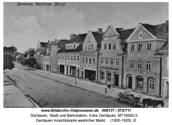 Gerdauen Ansichtskarte westlicher Markt