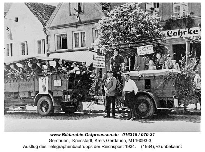 Gerdauen, Ausflug des Reichspost-Bautrupp 1934