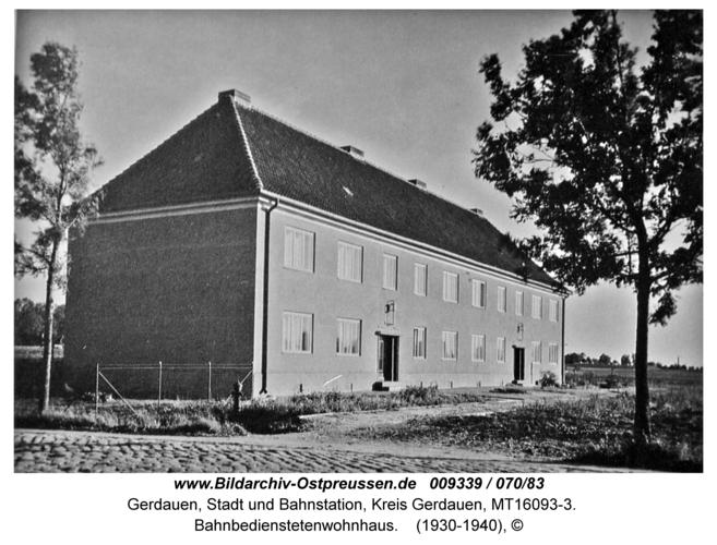 Gerdauen, Bahnbedienstetenwohnhaus