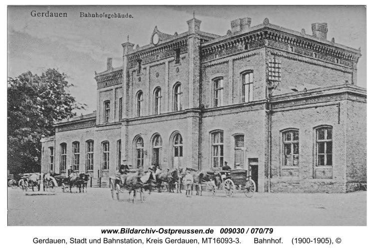 Gerdauen, Bahnhof