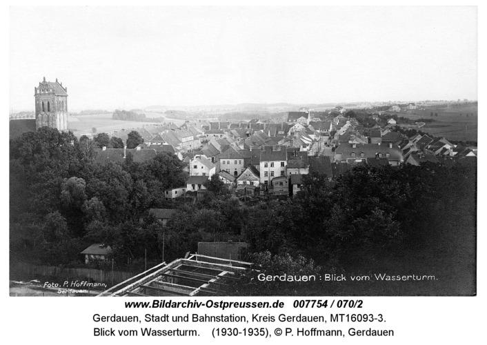 Gerdauen, Blick vom Wasserturm