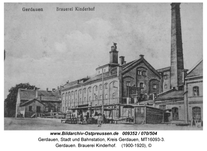 Gerdauen. Brauerei Kinderhof