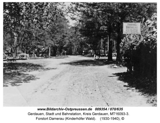 Gerdauen, Forstort Damerau (Kinderhöfer Wald)