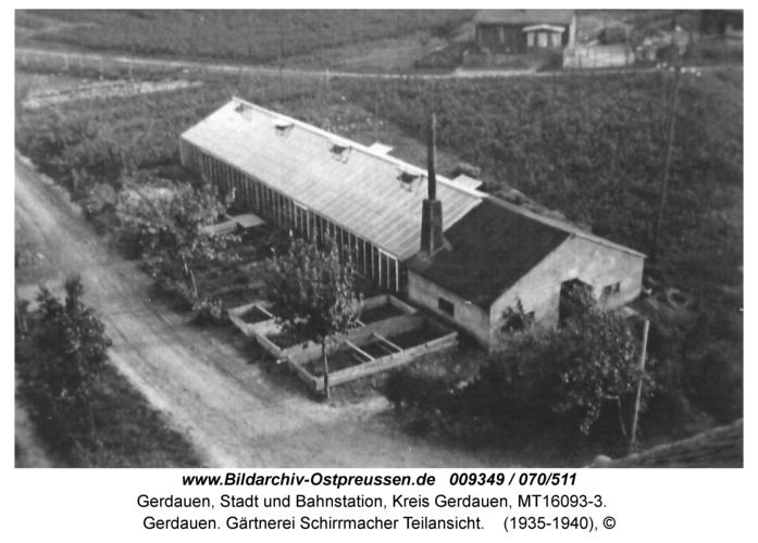 Gerdauen. Gärtnerei Schirrmacher Teilansicht
