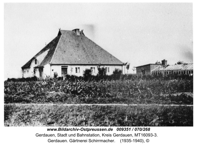 Gerdauen. Gärtnerei Schirrmacher