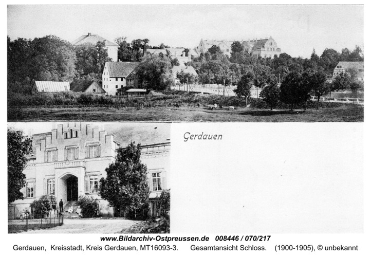 Gerdauen, Gesamtansicht Schloß