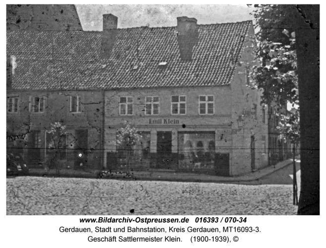 Gerdauen, Geschäft Sattlermeister Klein