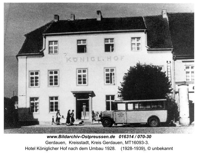 Gerdauen, Hotel Königlicher Hof