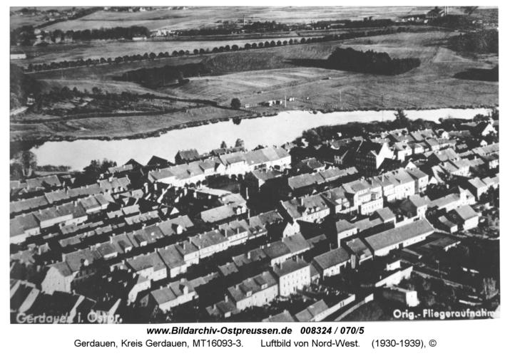 Gerdauen, Luftbild von Nord-West