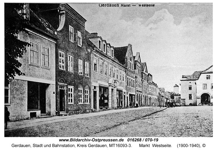 Gerdauen, Markt Westseite