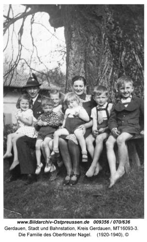 Gerdauen, Die Familie des Oberförster Nagel