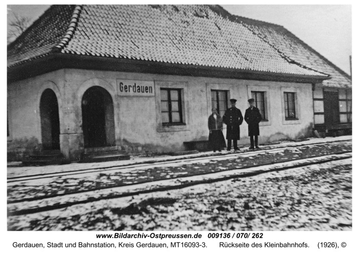 Gerdauen, Rückseite des Kleinbahnhofs