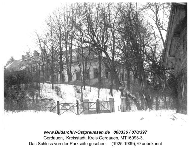 Gerdauen, das Schloß von der Parkseite gesehen
