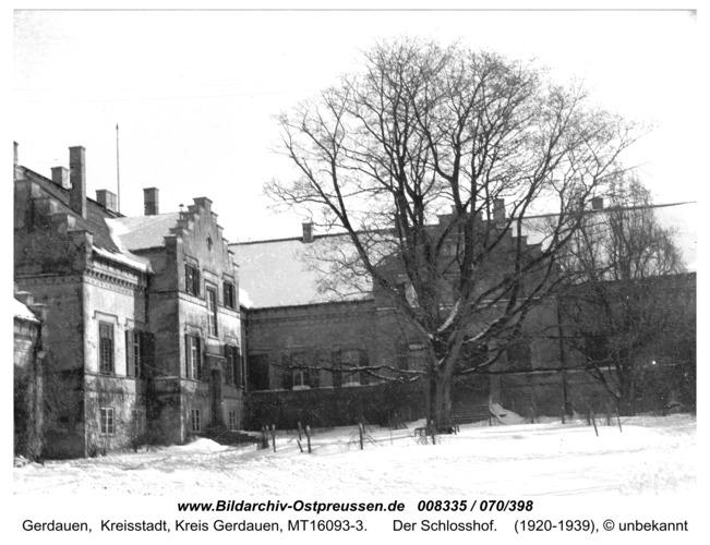 Gerdauen, der Schloßhof