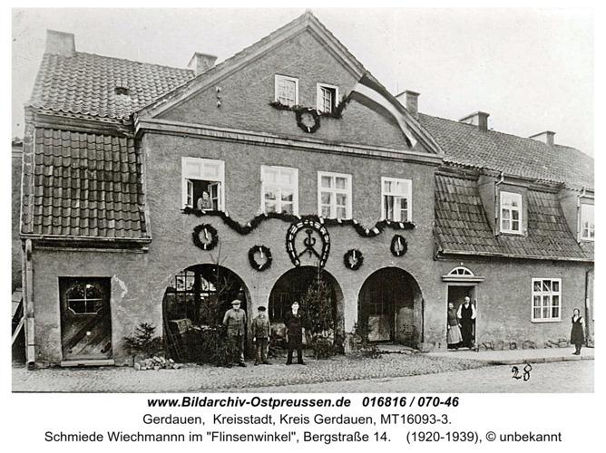 Gerdauen, Schmiede Wiechmannn, im Flinsenwinkel 14