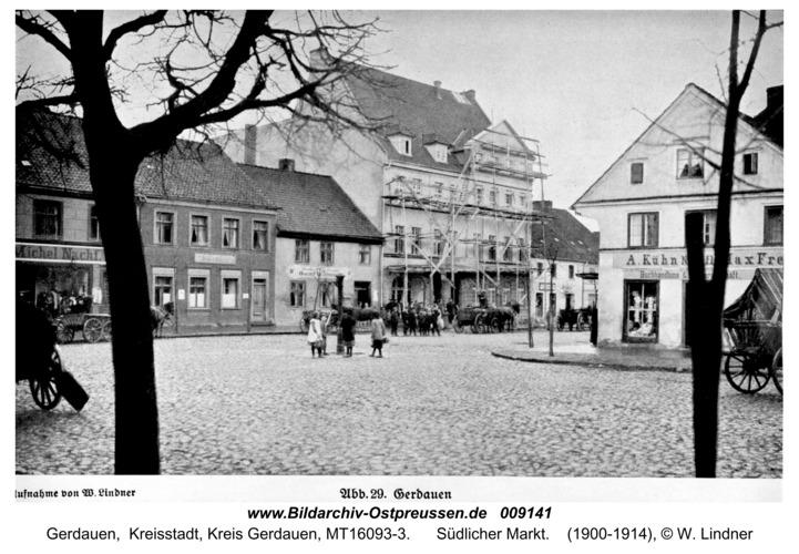 Gerdauen Ansichtskarte, Südlicher Markt