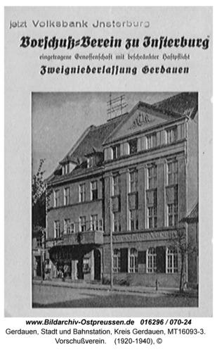 Gerdauen, Vorschußverein