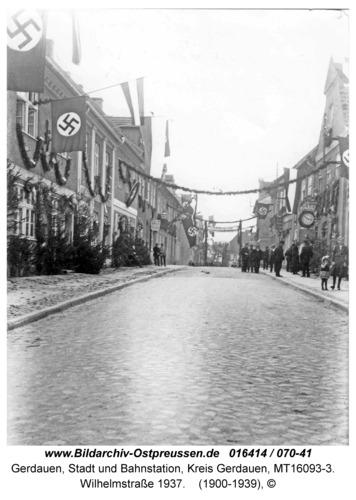 Gerdauen, Wilhelmstraße 1937