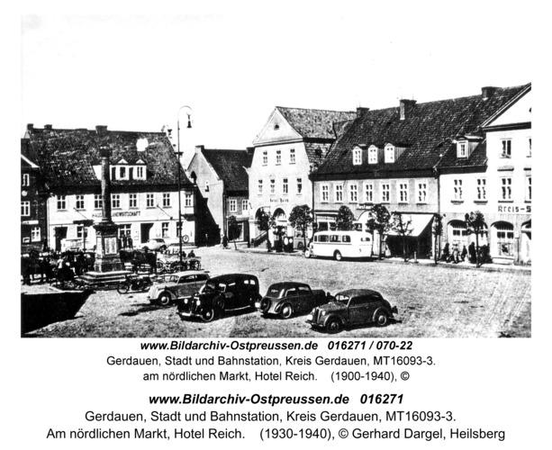 Gerdauen, Am nördlichen Markt, Hotel Reich
