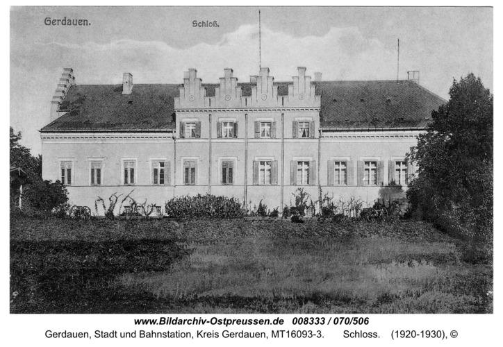 Gerdauen,  Schloss