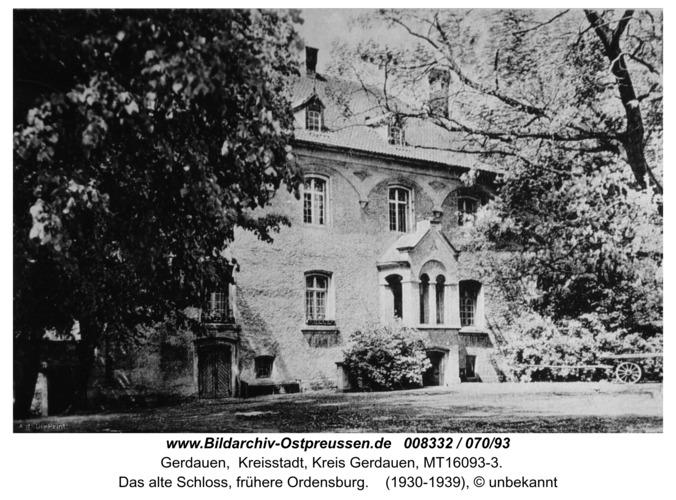 Gerdauen, das alte Schloß, frühere Ordensburg