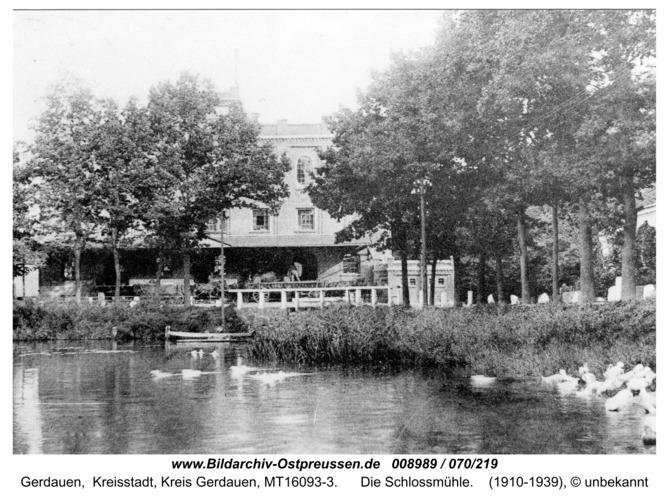 Gerdauen, die Schloßmühle
