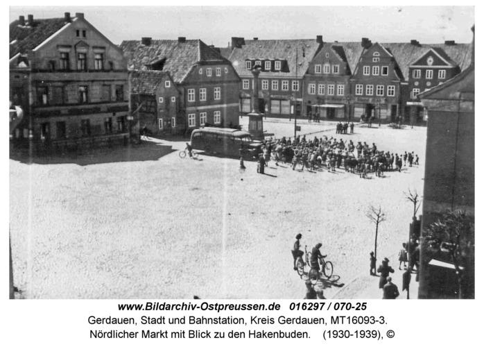 Gerdauen, nördlicher Markt mit Blick zu den Hakenbuden