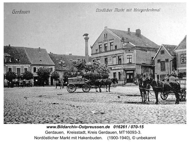 Gerdauen, Nord-Östlicher Markt mit Hakenbuden