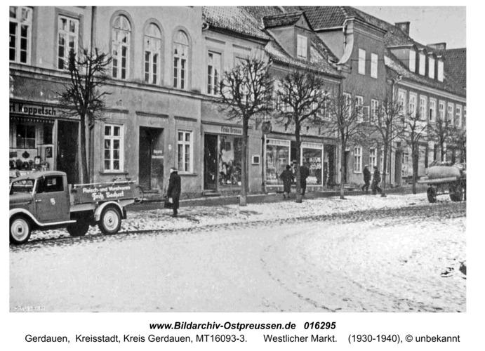 Gerdauen, Westlicher Markt