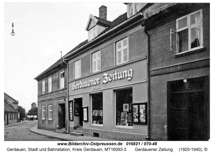 Gerdauen, Gerdauener Zeitung