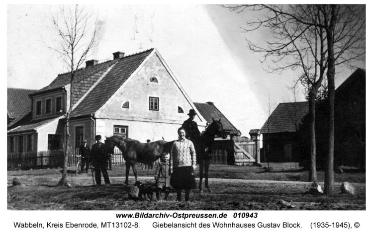Wabbeln, Giebelansicht des Wohnhauses Gustav Block
