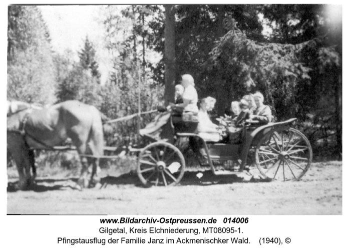 Gilgetal, Pfingstausflug der Familie Janz im Ackmenischker Wald