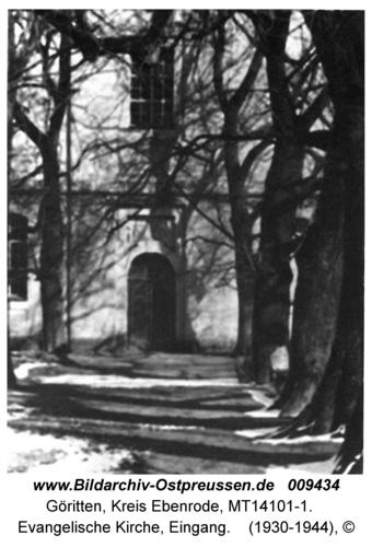 Göritten, Evangelische Kirche, Eingang