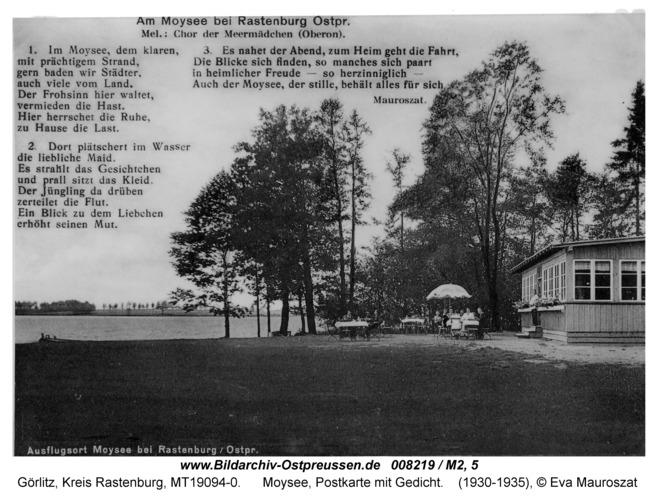 Görlitz, Moysee, Postkarte mit Gedicht