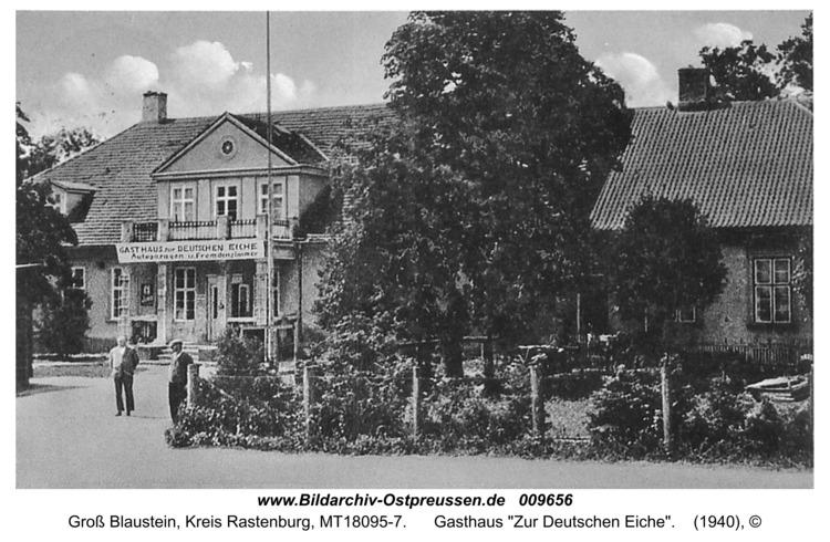 """Groß Blaustein, Gasthaus """"Zur Deutschen Eiche"""""""