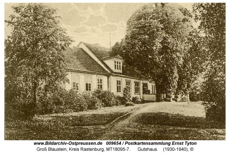 Groß Blaustein, Gutshaus, Parkseite