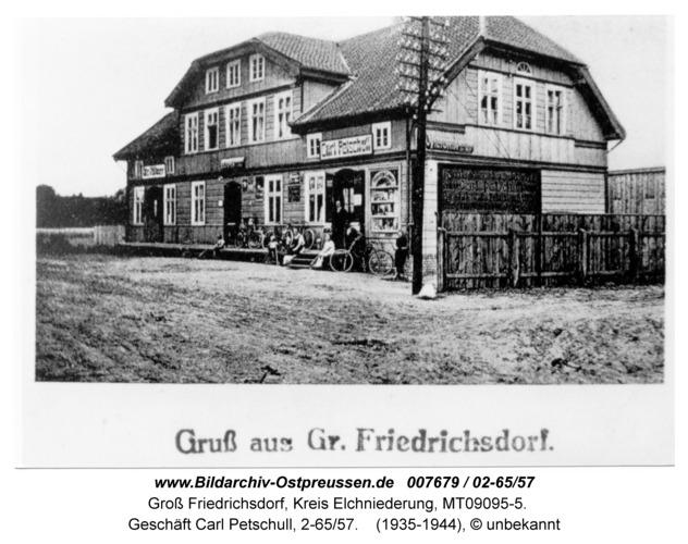 Groß Friedrichsdorf, Geschäft Carl Petschull, 2-65/57
