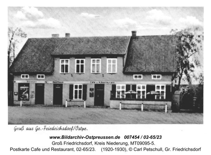 Groß Friedrichsdorf, Postkarte Cafe und Restaurant, 02-65/23