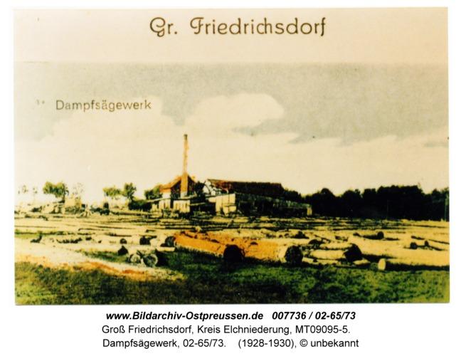 Groß Friedrichsdorf, Dampfsägewerk, 02-65/73