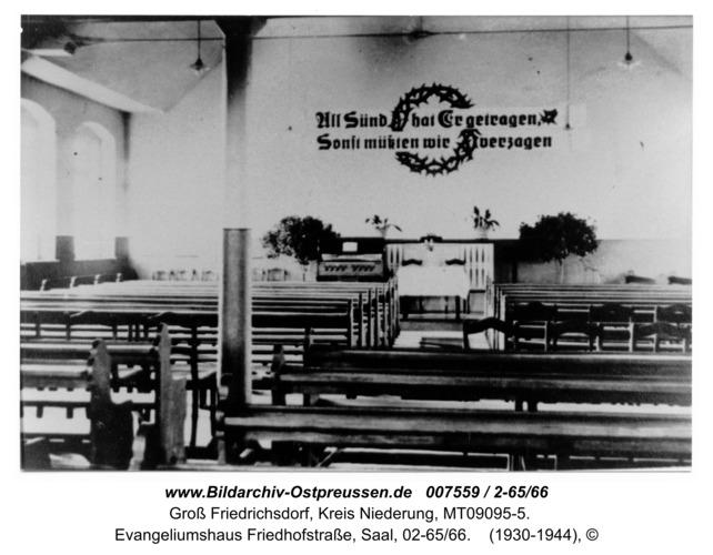 Groß Friedrichsdorf, Evangeliumshaus Friedhofstraße, Saal, 02-65/66
