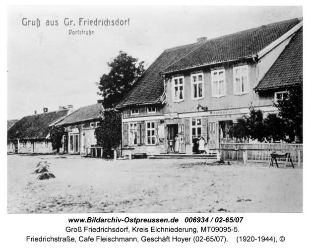 Groß Friedrichsdorf, Friedrichstraße, Cafe Fleischmann, Geschäft Hoyer (02-65/07)